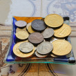 Eurocents mixed up with the Swiss francs — Stock Photo