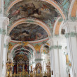 Inside of the St. Gallen cathedral — Stock Photo