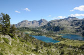 Mountainous lakes in the French Pyrenees, Neouvielle nature reserve — Stock Photo