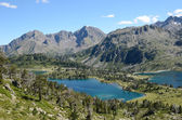 Mountainous lakes in the French Pyrenees — Stock Photo
