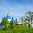 Orthodox church on the hill, Ukraine — Stock Photo