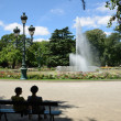 Sultry summer in the city ??park, Toulouse — Stock Photo
