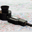 A speaking device on the aerial map — Stock Photo #31914239