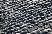 Pavimentazione di ciottoli della strada antica spagnola — Foto Stock