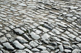 Surface of the old paving road — Stock Photo