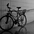 City bicycle parked in the subway — Stock Photo