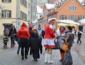 Street scurry of the German carnival Fasching — Stock Photo