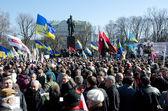 Kyiv celebrates the 200th anniversary of Taras Shevchenko's birthday — Stock Photo