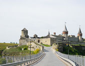Ukrainian medieval fortress in Kamyanets-Podilsky — Stock Photo