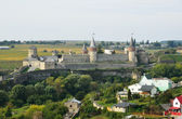 Ukrainian city Kamyanets-Podilsky with a medieval fortress — Stock Photo