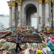 Постер, плакат: Sorrowful Maidan filled with flowers and candles