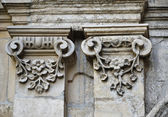 Architectural details of the neglected edifice — Stock Photo