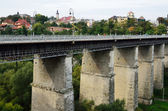 Famous bridges in the ancient town Kamyanets-Podilsky — Stock Photo