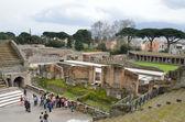 Roman theater in the ancient city Pompeii — Stock Photo