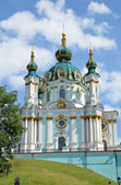 Late-baroque Saint Andrew's Church — Stock Photo