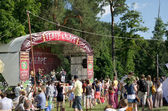 Musical stage of the folk festival — Stock Photo