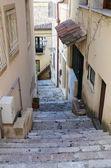 Steep narrow street of the Sicilian town — Stock Photo
