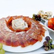 Plato de jamon serrano — Stock Photo