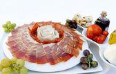 Plato de jamon serrano — Stok fotoğraf