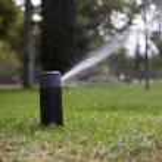 Irrigation of garden — Stock Photo #43006347