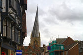 Chesterfield crooked spire — Stock Photo