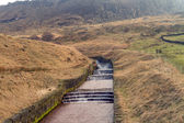 Water overflow at Dovestone — Stock Photo