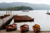 Small boats on Windermere — Stock Photo