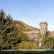 West tower of derwent dam — Stock Photo