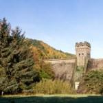 West tower of derwent dam — Stock Photo