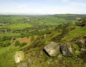 View of Peak district from Curbar edge — Stock Photo