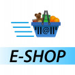 E shop — Stock Vector
