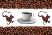 Africa and coffee — Stock Photo