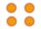 Four sun — Stock Vector