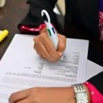 Close up of hand writting — Stock Photo #31370821