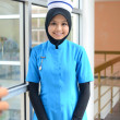 Confident Young asian muslim nurse at hospital  — Stock Photo
