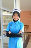 Confident nurse smile — Stock Photo