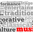 Culture and entertainment info-text graphics — Stock Photo