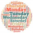 Weekdays info-text graphics — Stock Photo #31489603