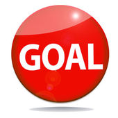Goal icon button graphic — 图库照片