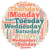 Weekdays info-text graphics — Stock Photo