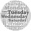 Weekdays info-text graphics — Stock Photo #31493701