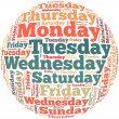 Weekdays info-text graphics — Stock Photo #31493881
