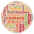 Photography infot-ext graphics — Stock Photo