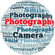 Stock Photo: Photography info-text graphics