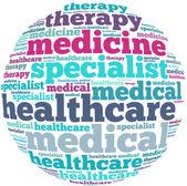 Healthcare info-text graphics — Stock Photo