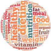 Healty diet info-text graphics — Stock Photo