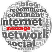 Message internet info-text graphics — Stock Photo