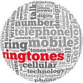 Conceito de tom de anel de telefone — Foto Stock