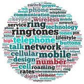 Telefone anel tom info-texto gráficos — Foto Stock