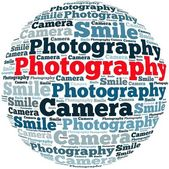 Photography info-text graphics — Stock Photo